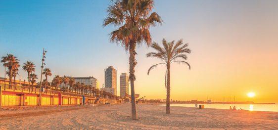 Tour de pistes sur les belles plages de Barcelone